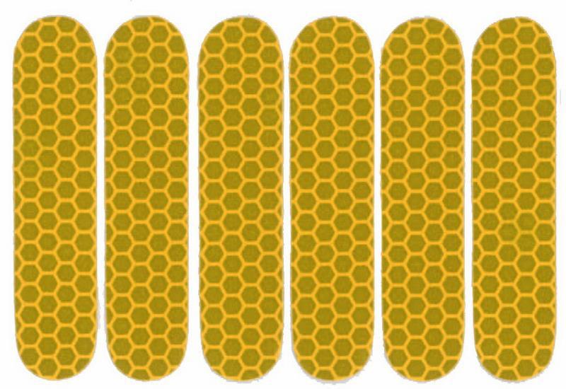 Refleksark Gul med 6 stk klistermærker | Reflekser