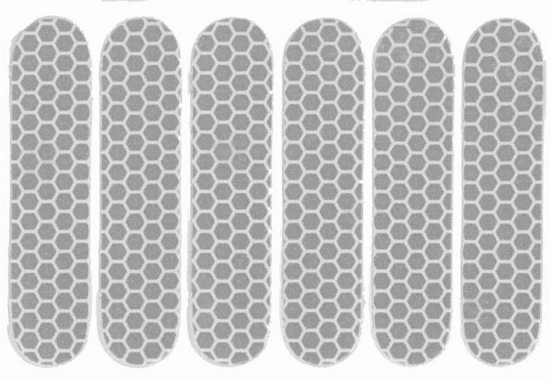 Refleksark hvid med 6 stk klistermærker | Reflekser