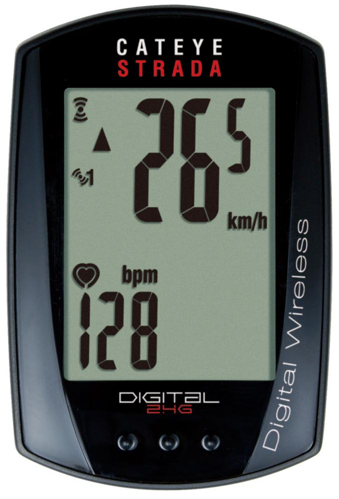 Computer Cateye Strada double wireless digital puls+trådløs CC-RD420DW | Cycle computers