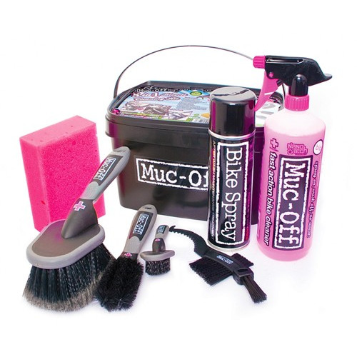 Muc-off bike cleaning kit.