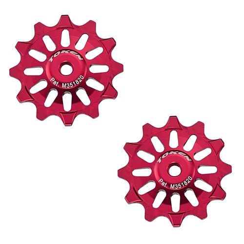 Token Pulleyhjul 12T Alu Rød - 299,00 | Pulley wheels