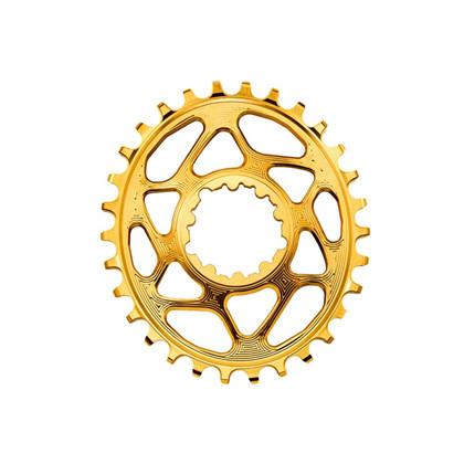 ABSOLUTEBLACK Klinge oval Sram GXP. Direct Mount 6 mm Offset. Gold | Klinger