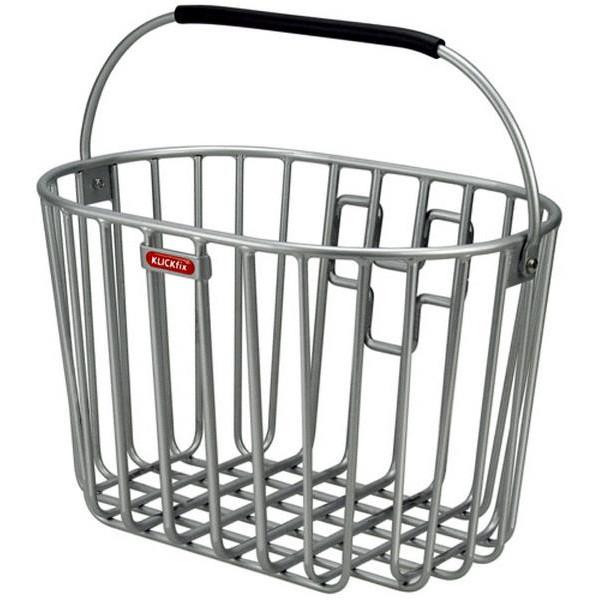Klickfix ALU kurv sølv | Bike baskets