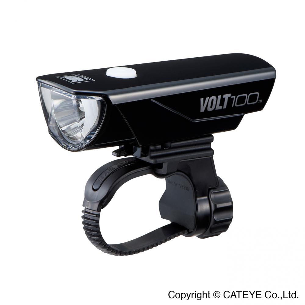 Forlygte Cateye VOLT100 HL-EL150RC USB opl.100 lumen mont. hjelm eller overrør | Batterier og opladere