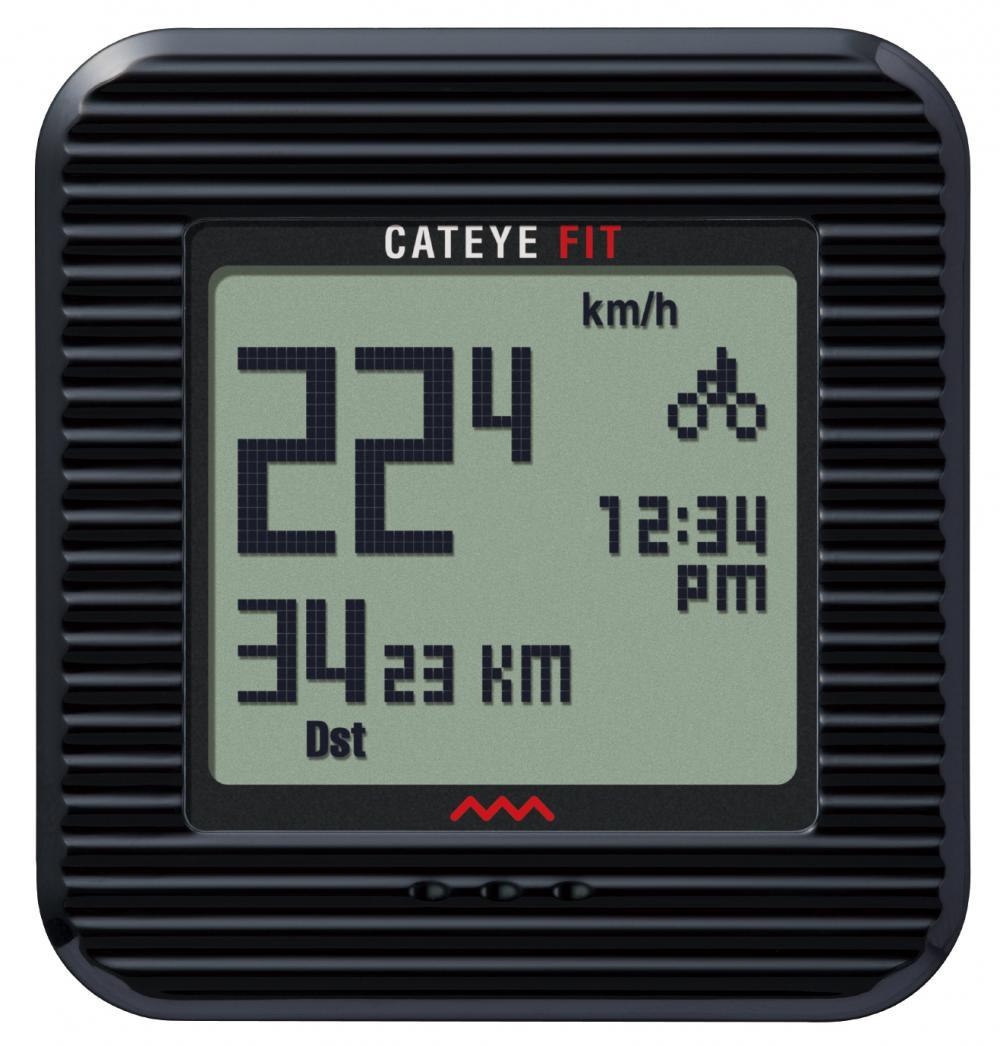 Computer Cateye Fit Walk/Bike trådløs med skridttæller PD100W Sort | Cykelcomputere