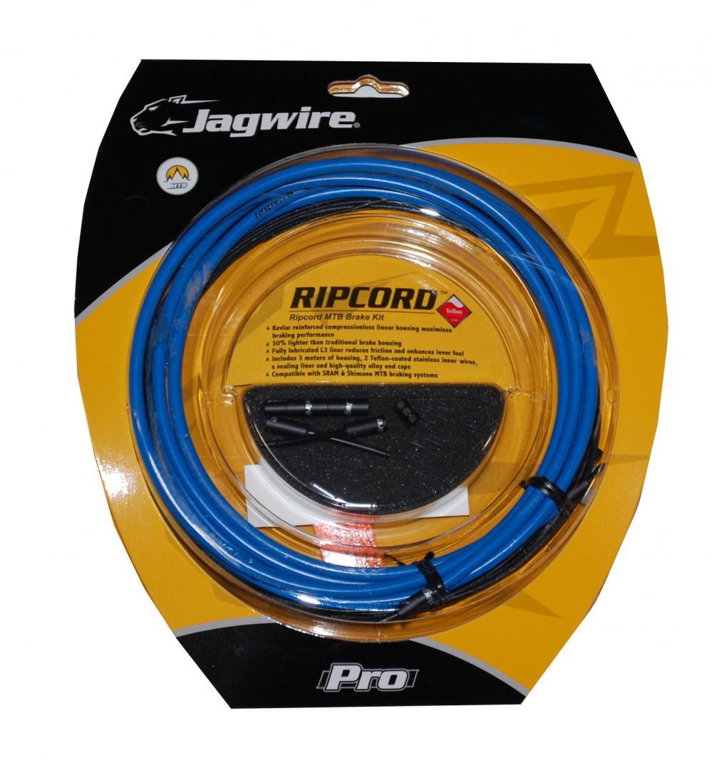Bremsekabelsæt Jagwire RipCord SID Blue Teflon Coated Wire Mtb MCK414   Bremsekabler