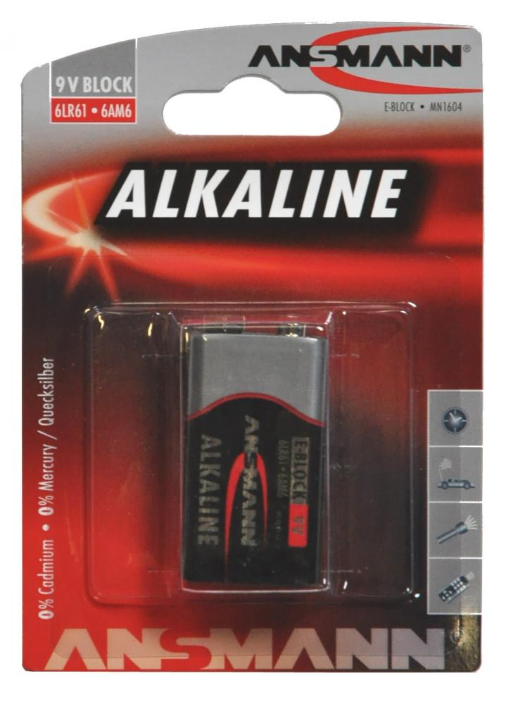 Batteri ANSMANN 6LF22 9V Alkaline | Batterier og opladere