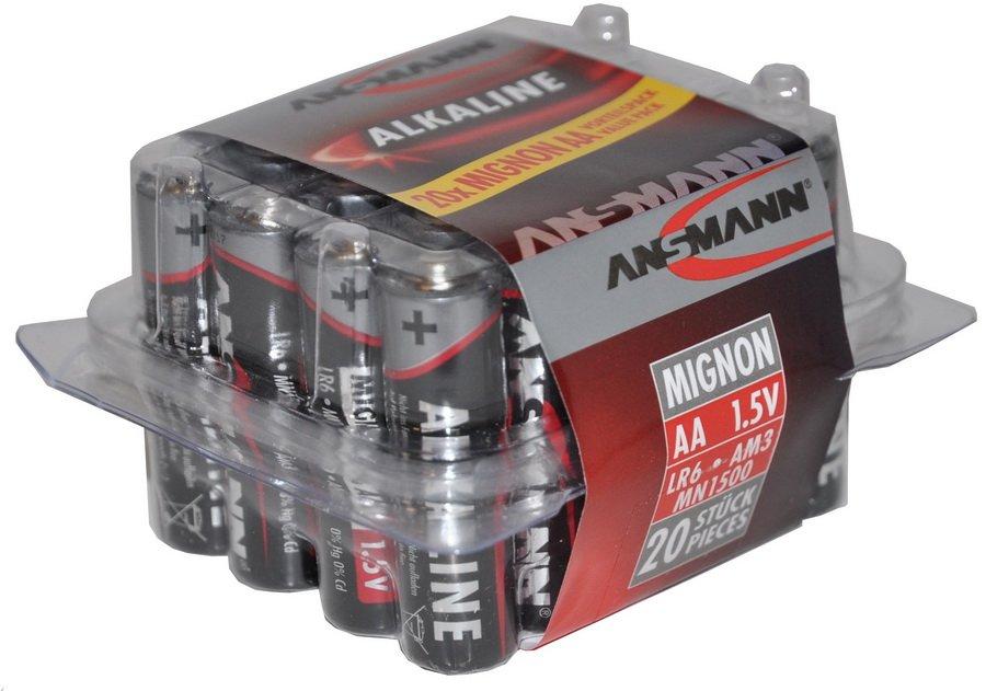 Batteri ANSMANN LR6/AA 20 stk. boks Alkaline | Batterier og opladere