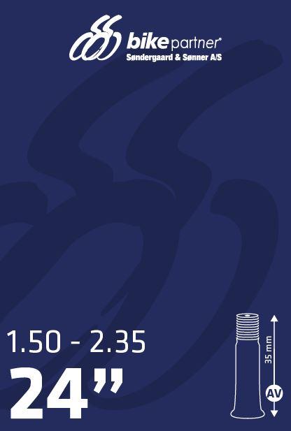 Slange 24x1,50-2,35 AV35 40/60-507 BikePartner   Slanger