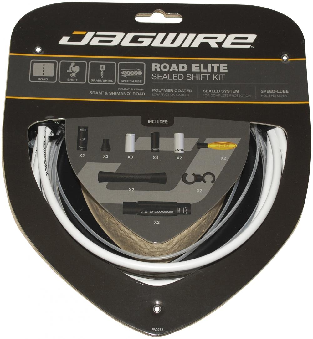 Gearkabelsæt Jagwire Road Elite Sealed White RCK453