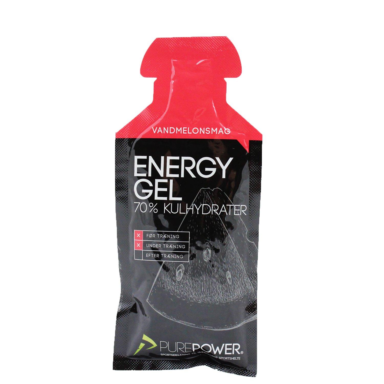 PurePower Energi Gel Vandmelon smag 40g | Energy gels