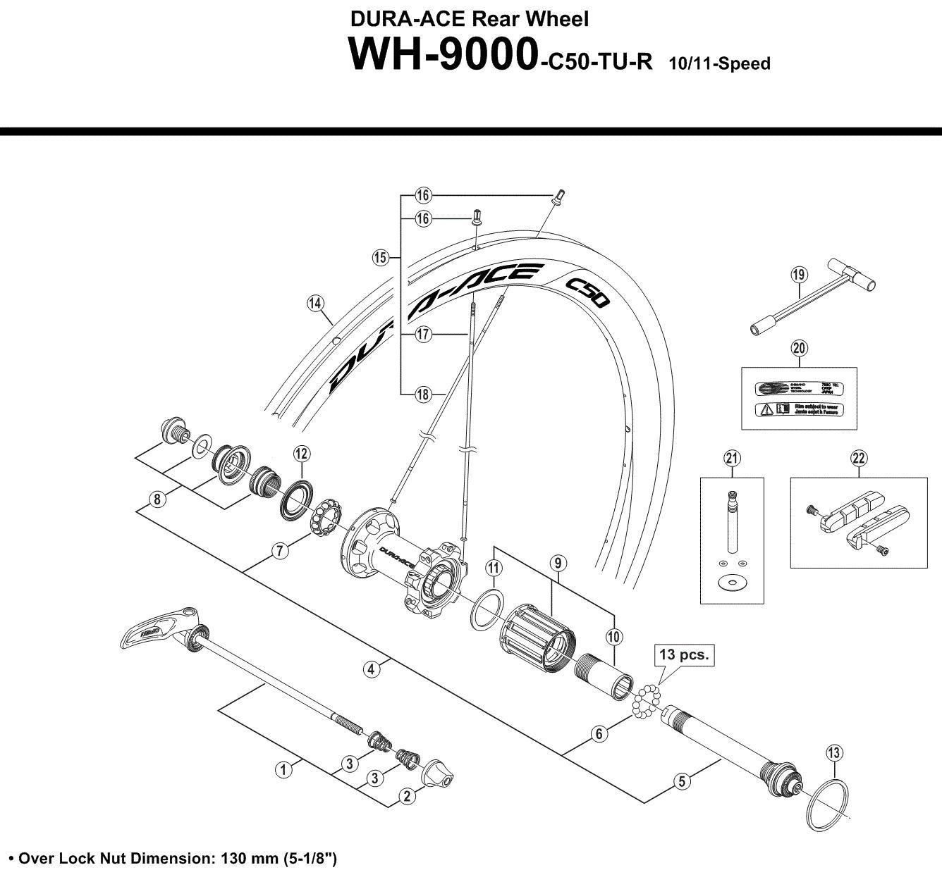 Eger WH-9000-C50 287mm | Spokes