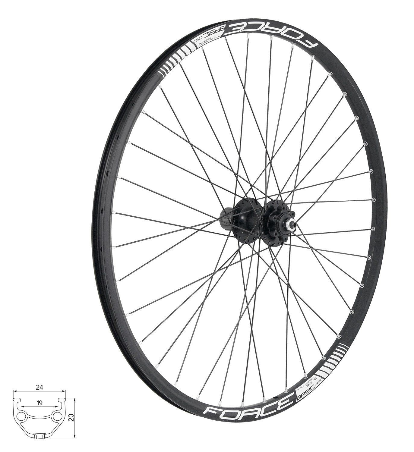 Force Basic Disc Baghjul MTB 26""