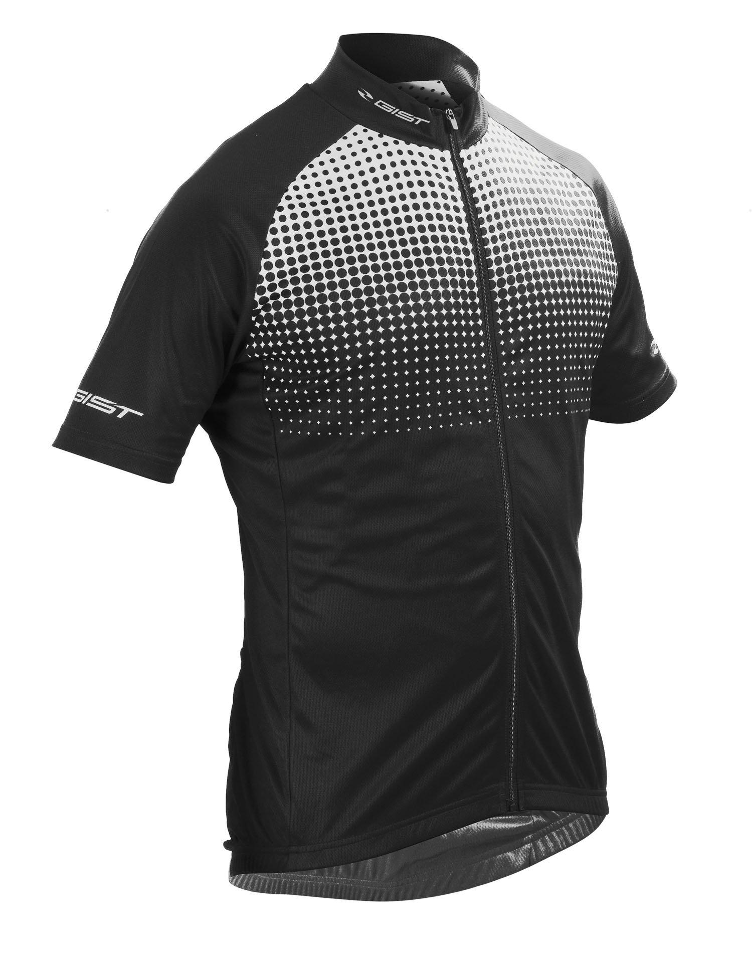 Gist Flame jersey cykeltrøje i sort og hvid | Trøjer