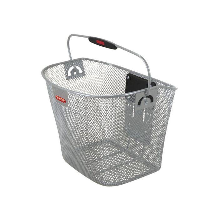 KlickFix front kurv i aluminium sølv | Bike baskets