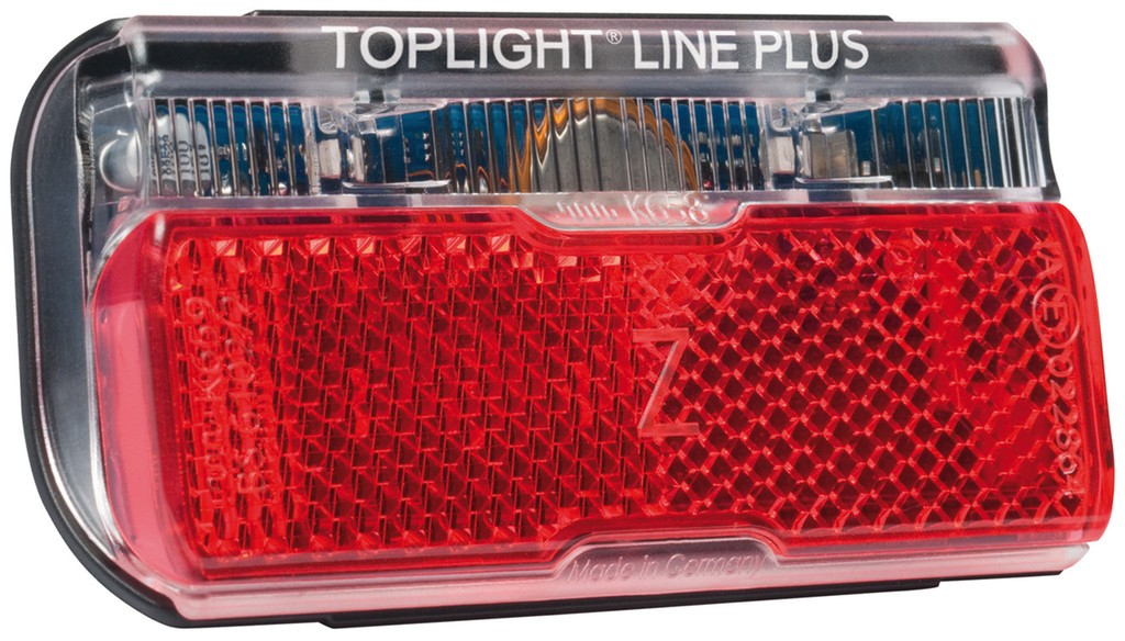 Rear light b&m Toplight Line brake plusBrake light function&side light,80mm | Baglygter