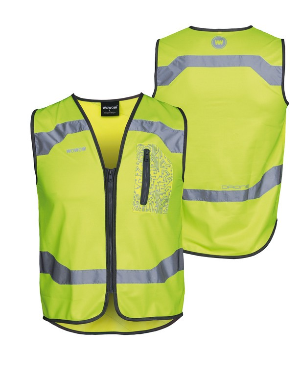 Safety vest Wowow Droneyellow with zip size XXL   Vests