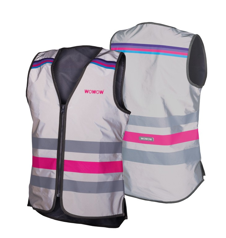 Safety vest Wowow Lucy Full reflect.grey with zip size M | Veste