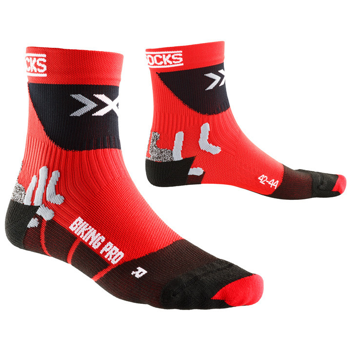 4e9a2a323 X-Bionic strømper Pro Cycling Socks, red-black (44-47)