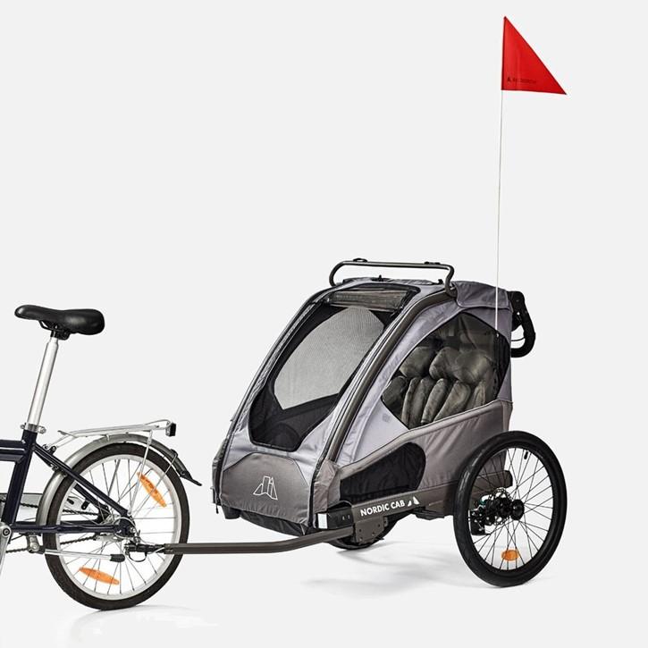 NORDIC CAB Cykeltrailer Urban grå inklusive klapvognssæt | bike_trailers_component