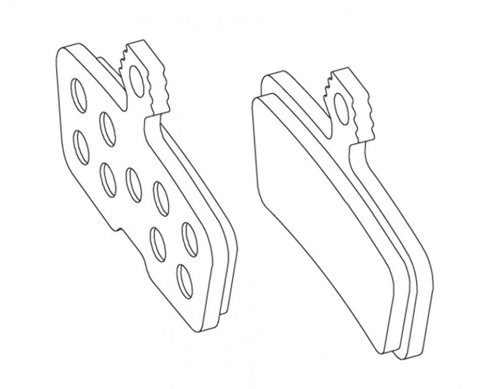 avid - brake pad set f.MY 11 Codeorganic Aluminum